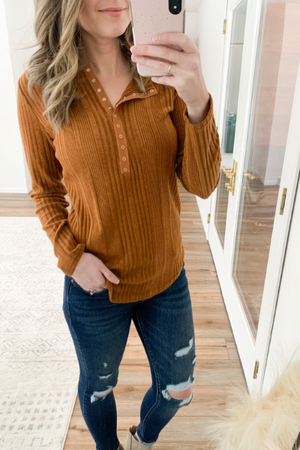 The Brittany Ribbed Long Sleeve