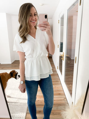 The Leona Blouse in White