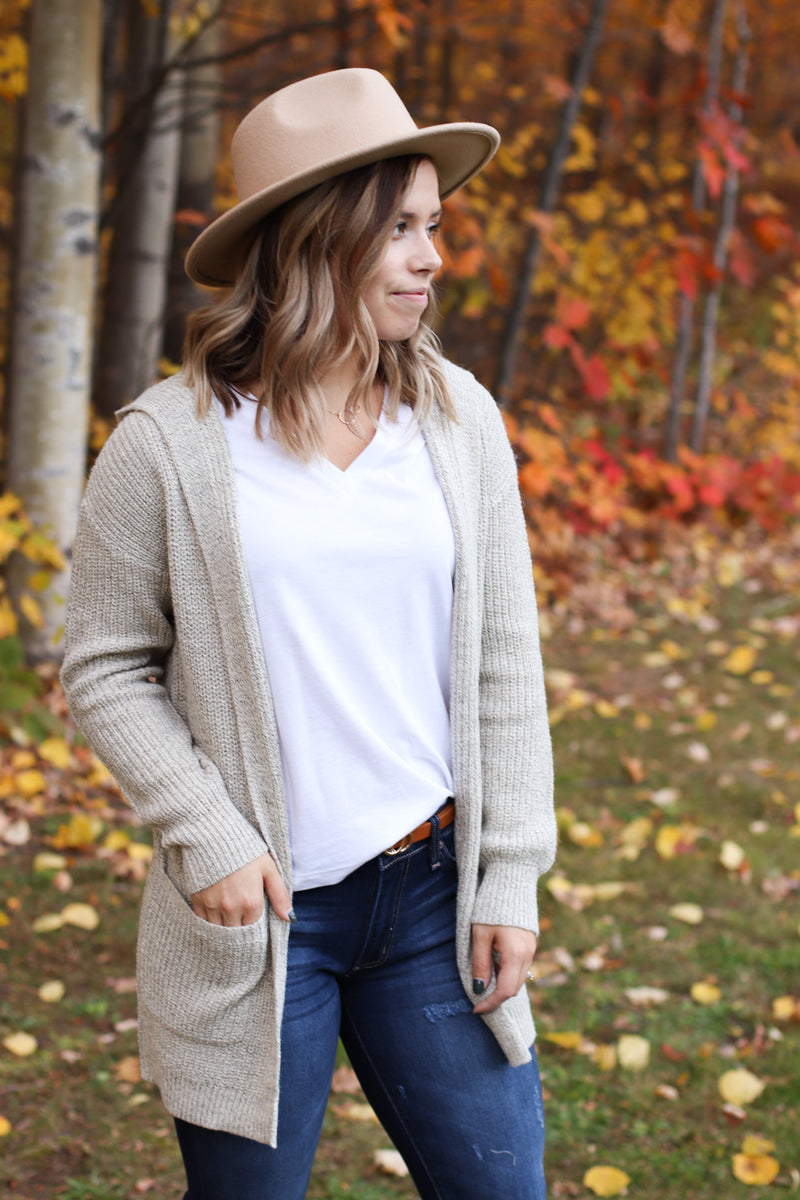 The Danielle Hooded Cardigan