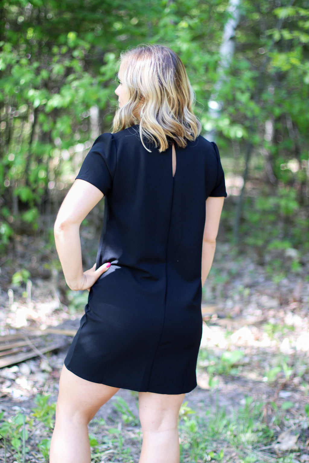The Classic Little Black Shift Dress