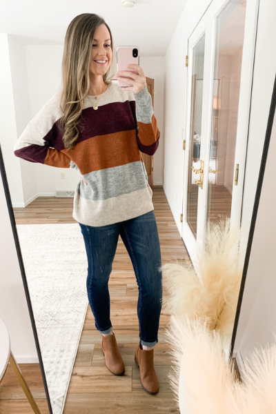 The Meredith Color Block Sweater