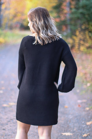 The Drake Ribbed Sweater Dress