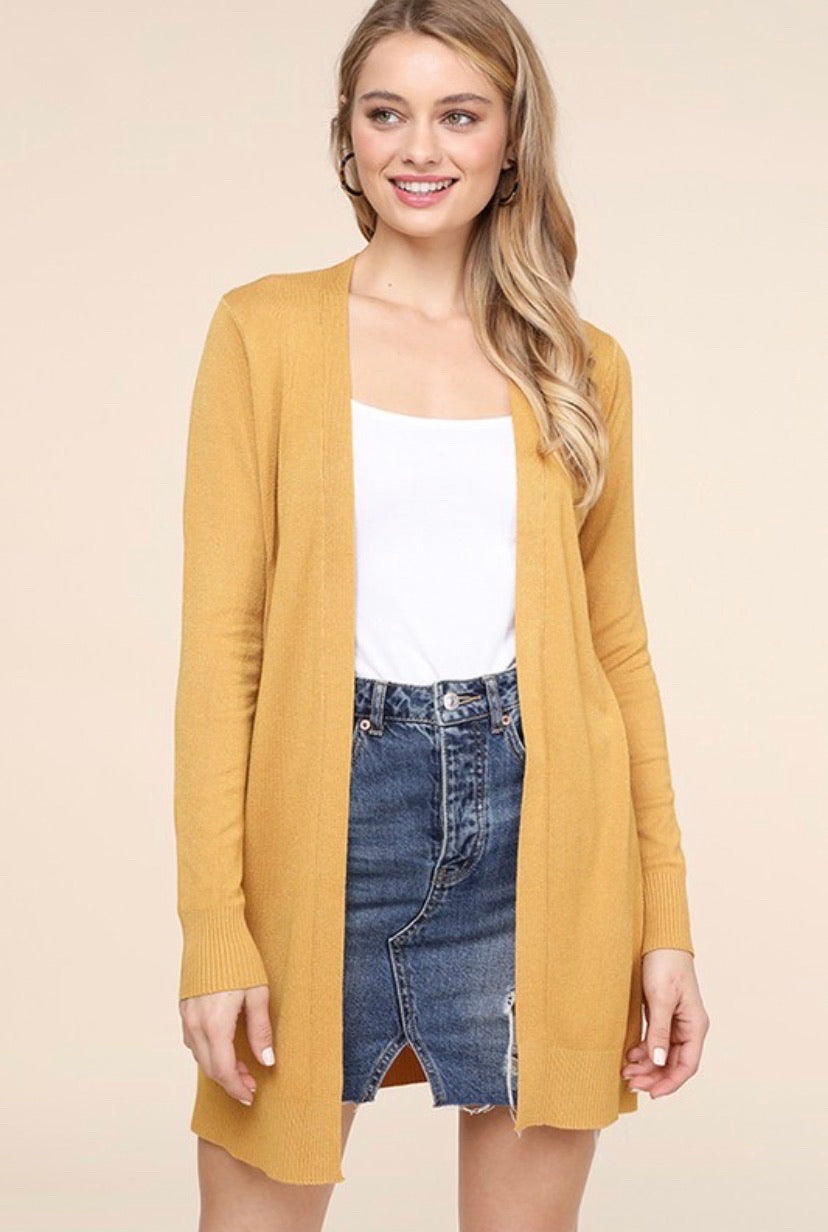 The Morgan Cardigan in Marigold