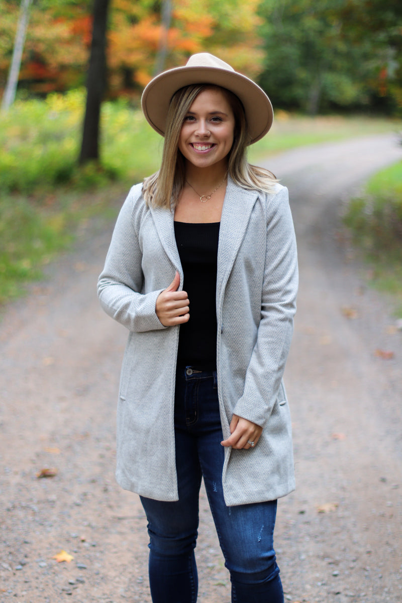 All About Fall Chevron Coat