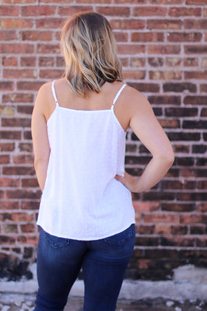 The Ainsley Tank in White