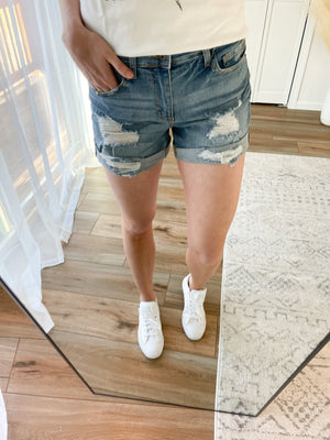 The Cuffed Tomboy Midrise Shorts