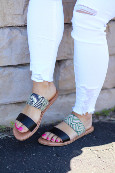 The Allie Sandals in Black
