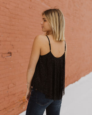 The City Lights Sequin Tank in Black
