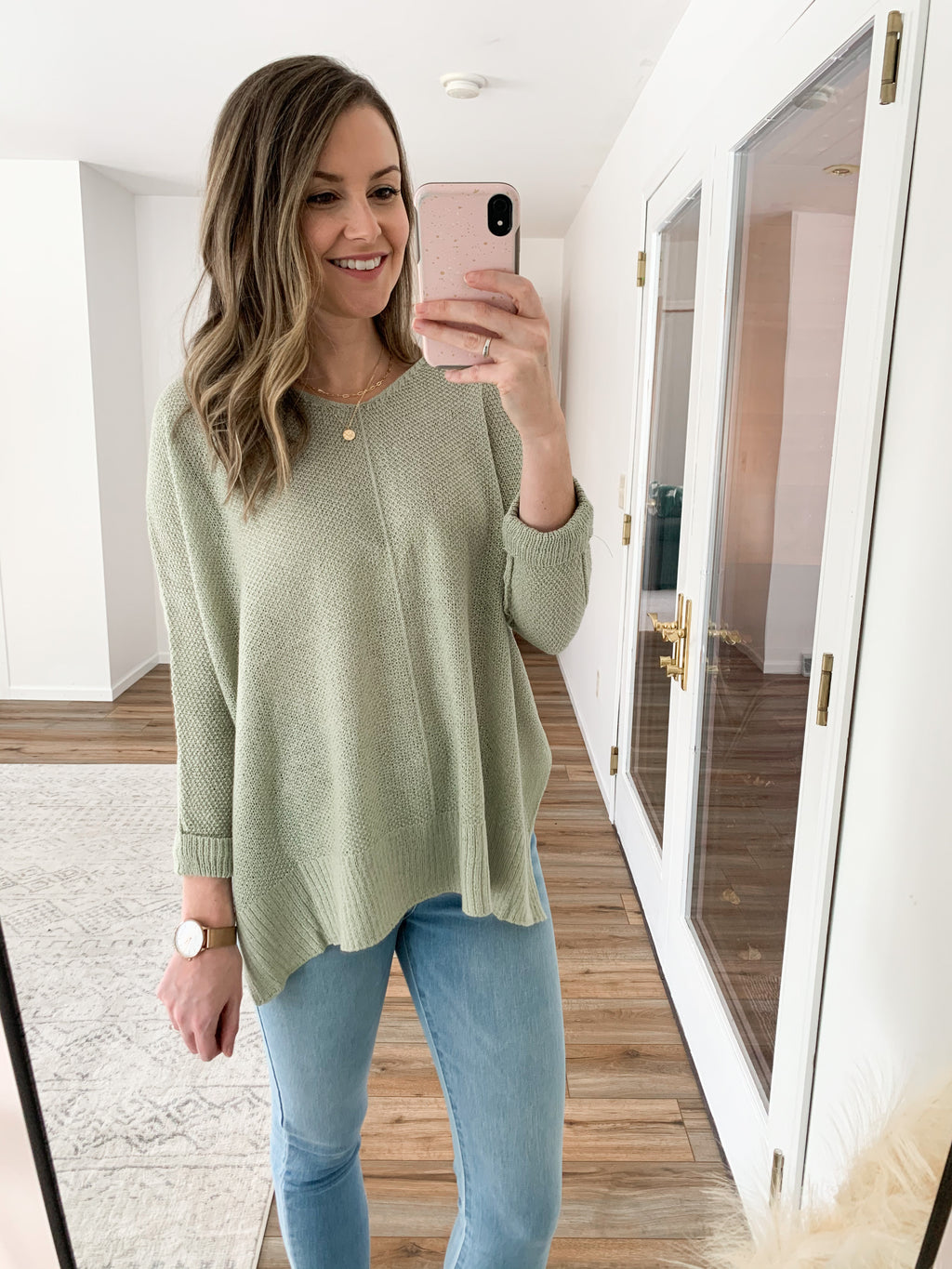 The Evelyn Sweater in Sage