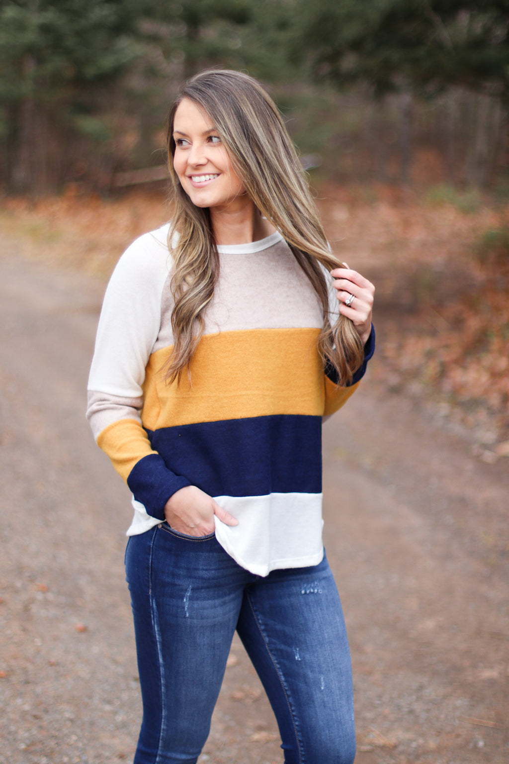 The Nova Color Block Top