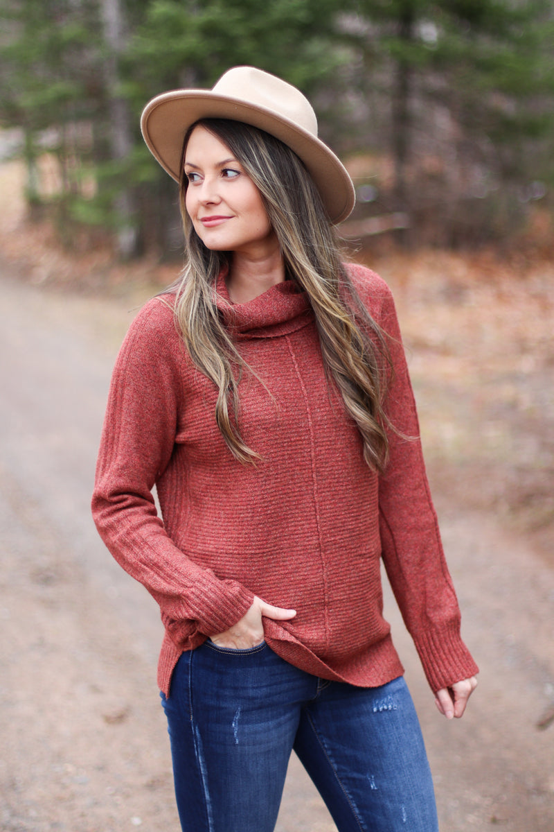 The Corinne Cowl in Berry