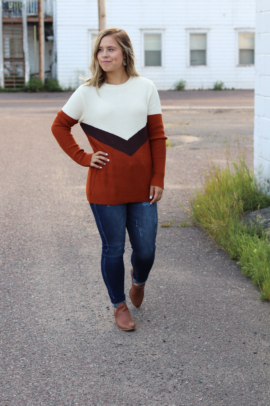 The Quincy Color Block Sweater