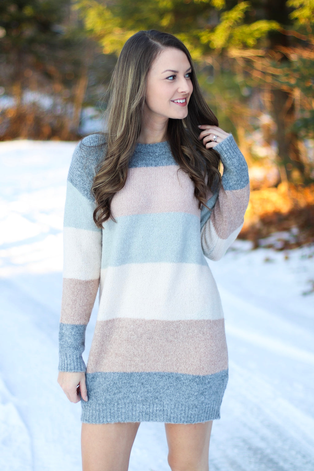 The Coco Color Block Sweater Dress