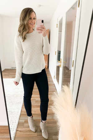The Katherine Crewneck Sweater in Oat
