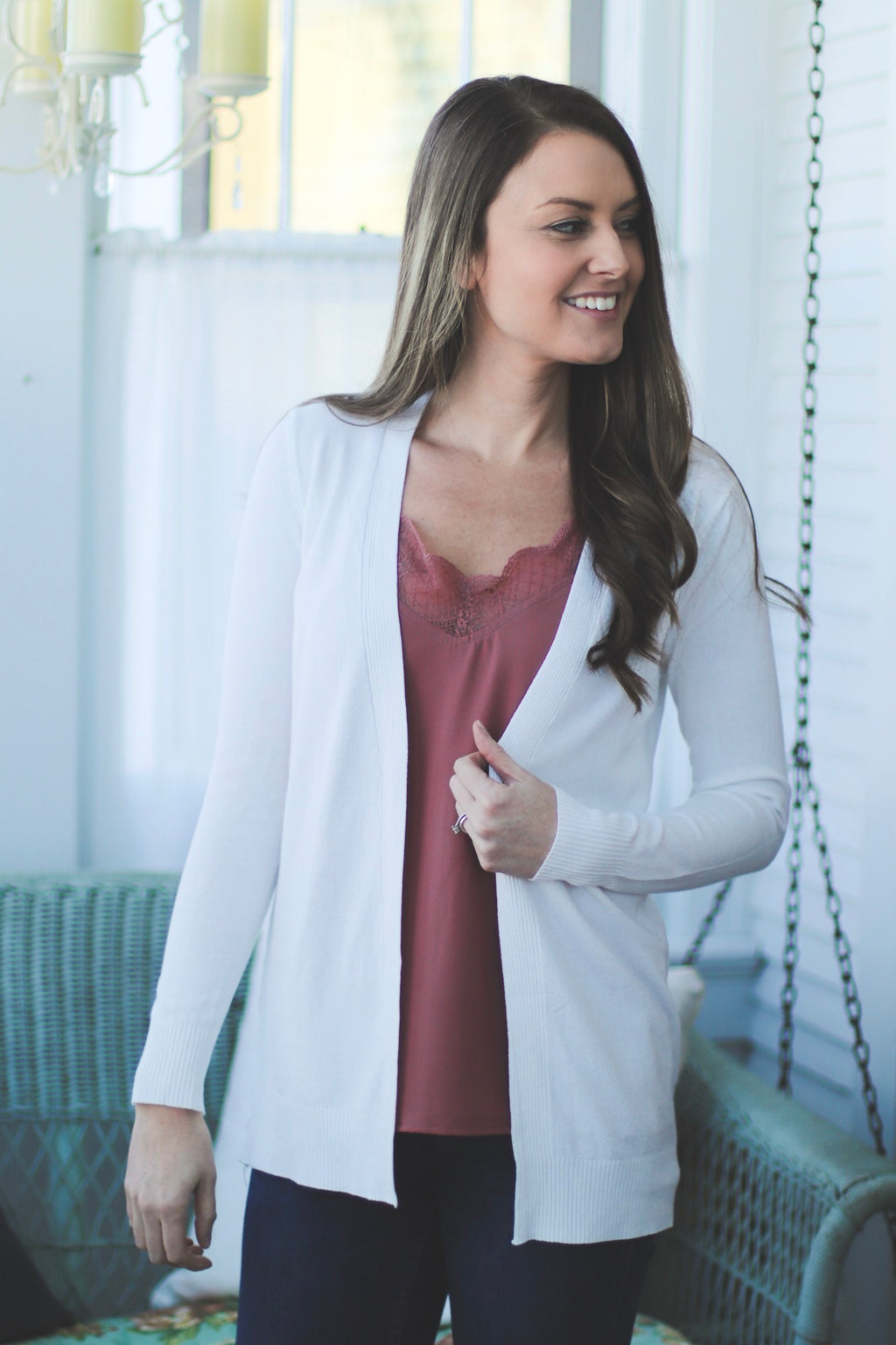 The Classic Cardigan in Ivory