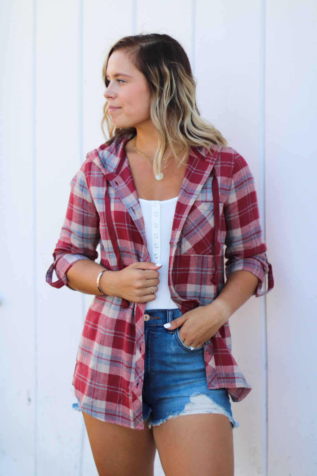 The Auburn Hooded Flannel