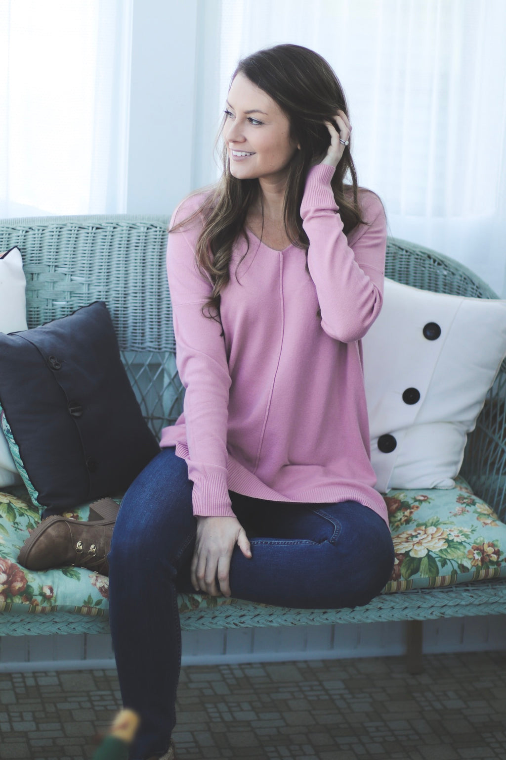 The Addison Tunic in Pink