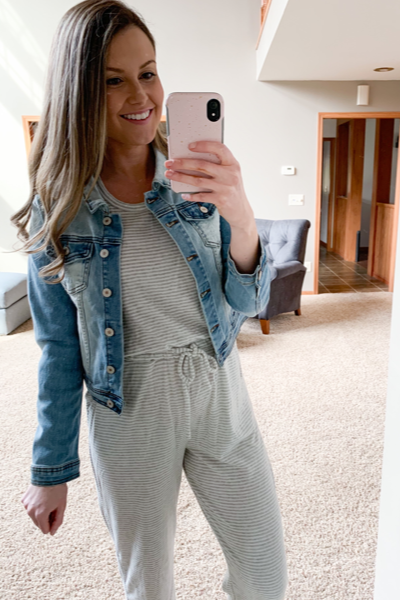 Heather Striped Jumpsuit
