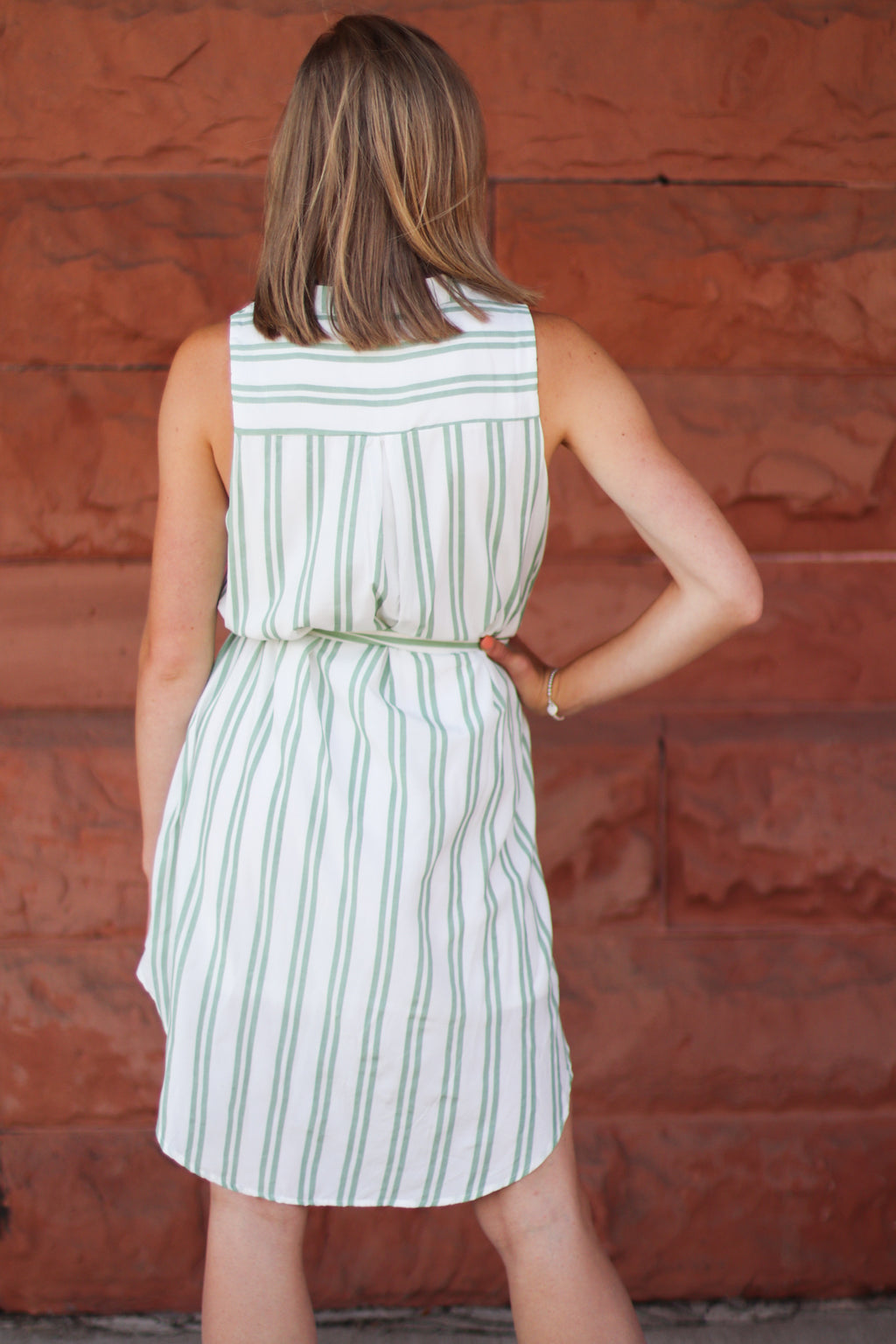 The Shiloh Striped Button Down Dress