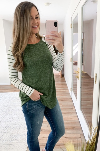 Olive Striped Tunic