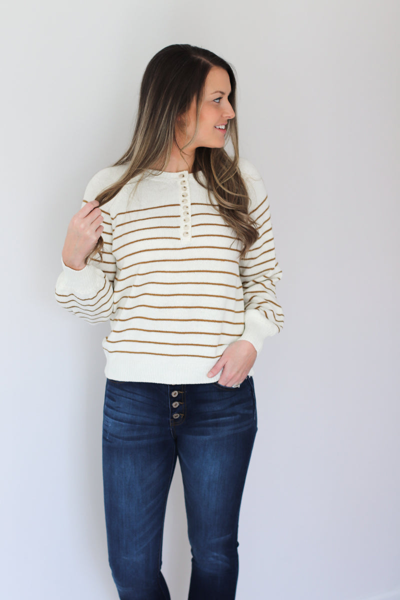 The Layne Button Front Sweater