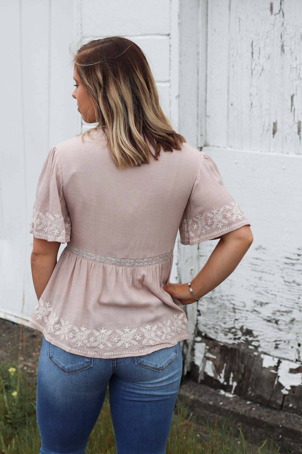 The Claire Embroidered Blouse