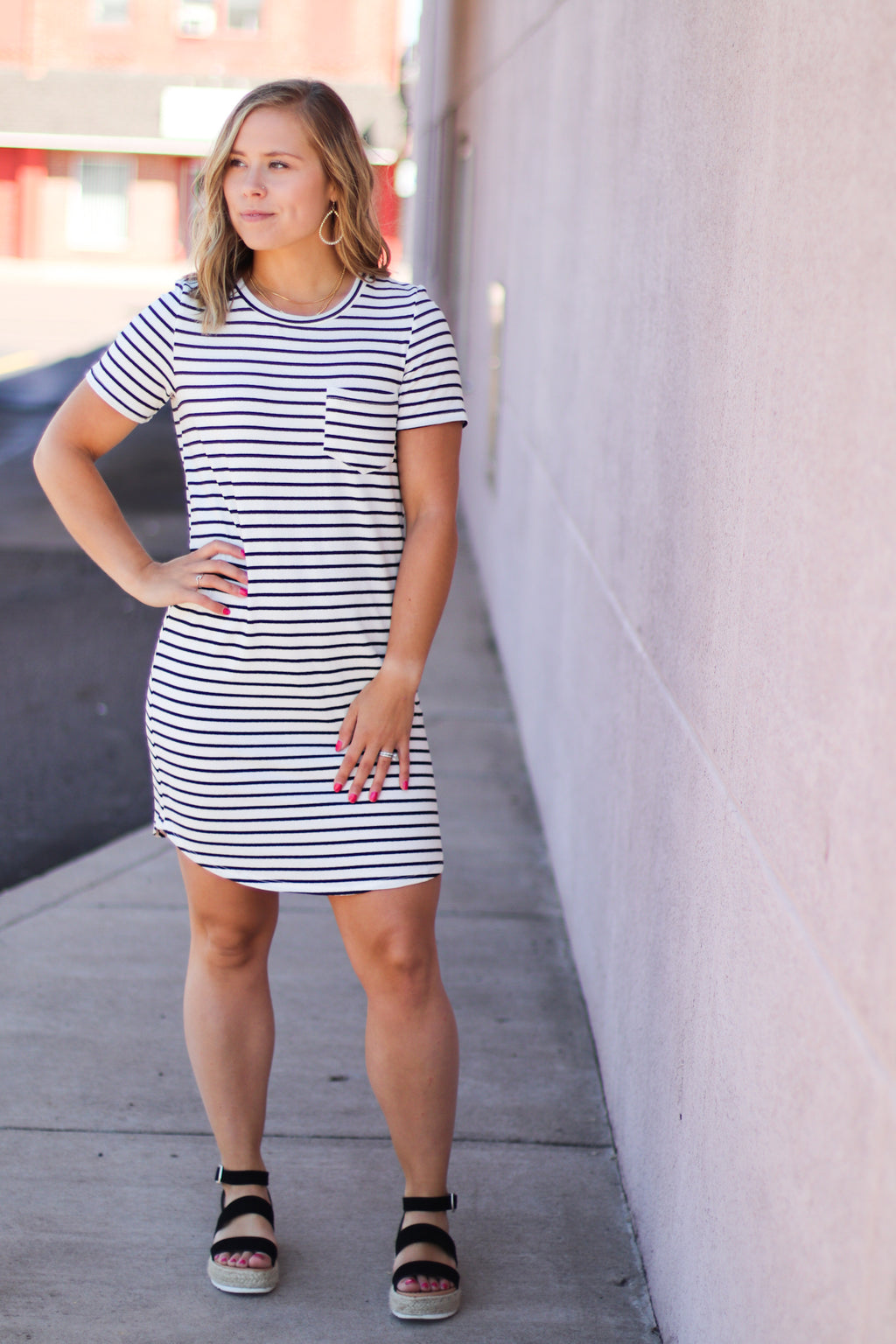 Classic Striped T-Shirt Dress