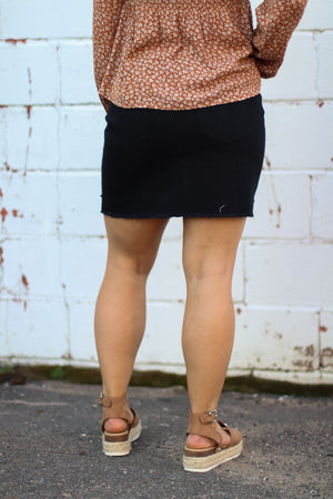 The Zoey Button Front Mini Skirt