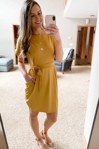 Most Wanted Dress in Mustard