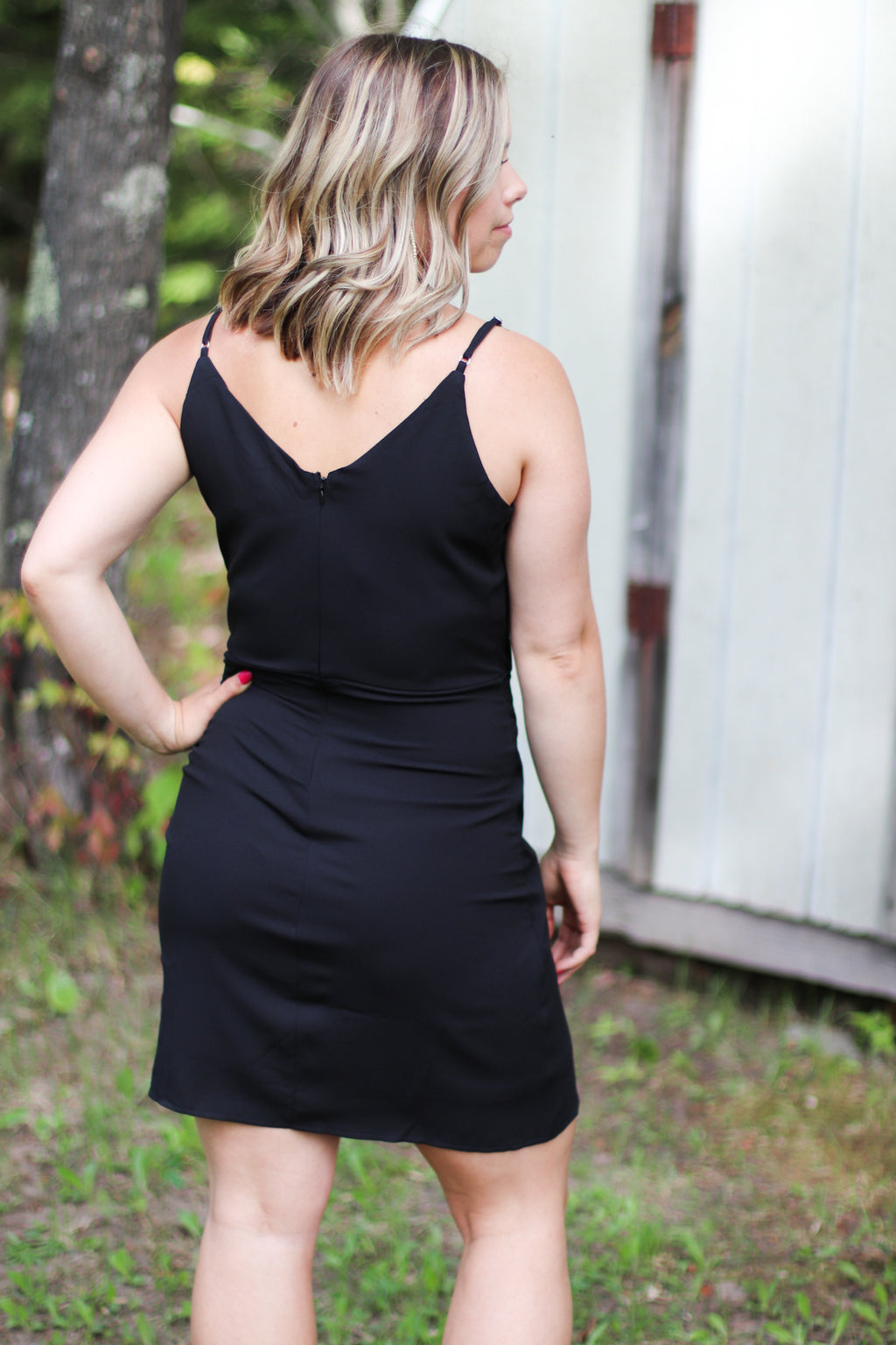 The Roma Wrap Dress in Black