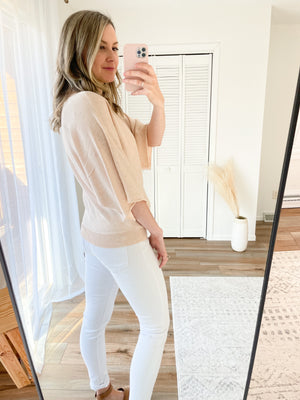 The Hadley Dolman Sweater in Oatmeal