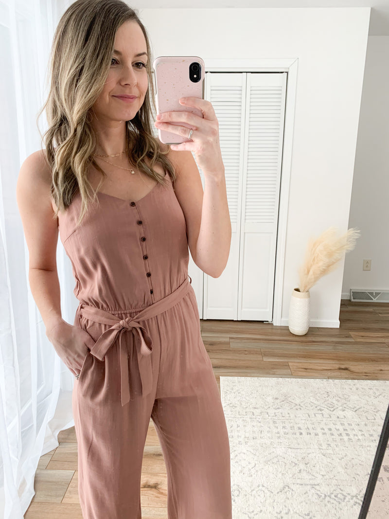 The Paxton Jumpsuit in Rosewood