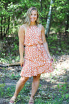 The Audrina Dress in Apricot