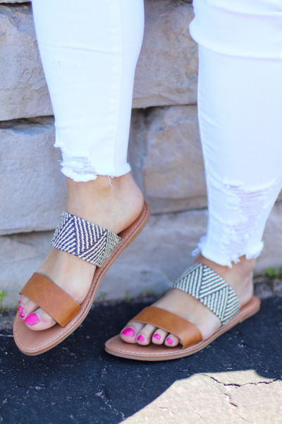 The Allie Sandals in Camel