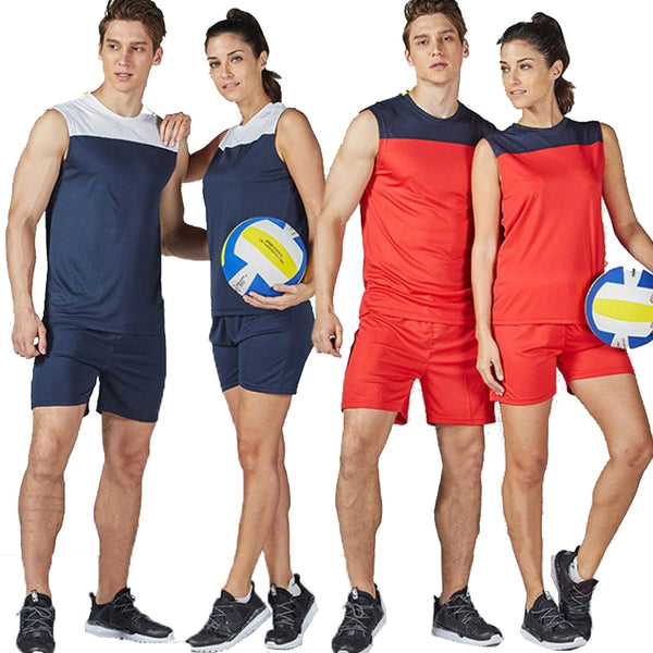 Women Men Beach Volleyball Sportwear Jerseys