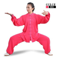 Outdoor Men Women Taichi Sets Cotton Silk Wushu Taiji Exercise Clothing Running Training Kungfu Suit