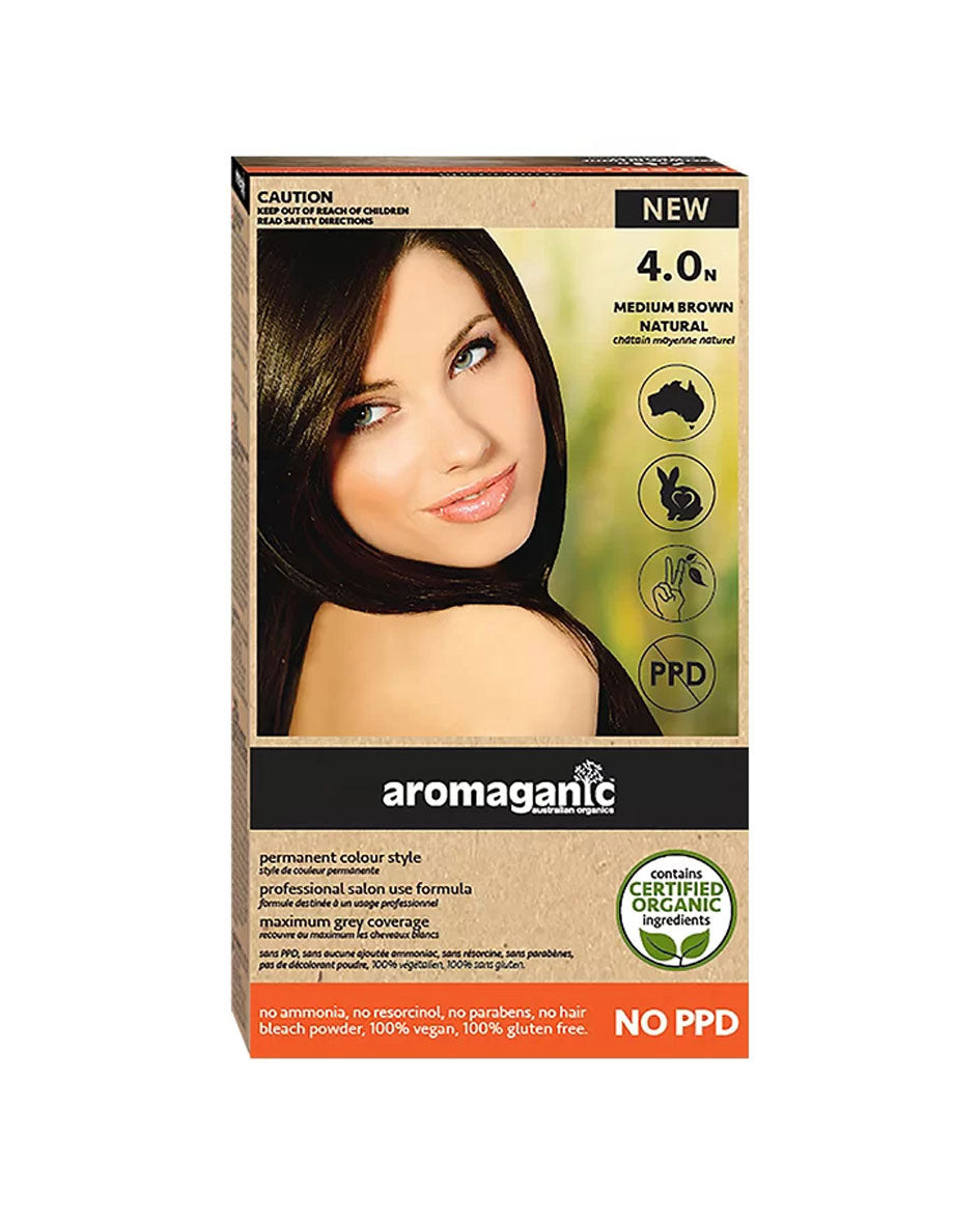 Aromaganic haircolour 4.0N Brown