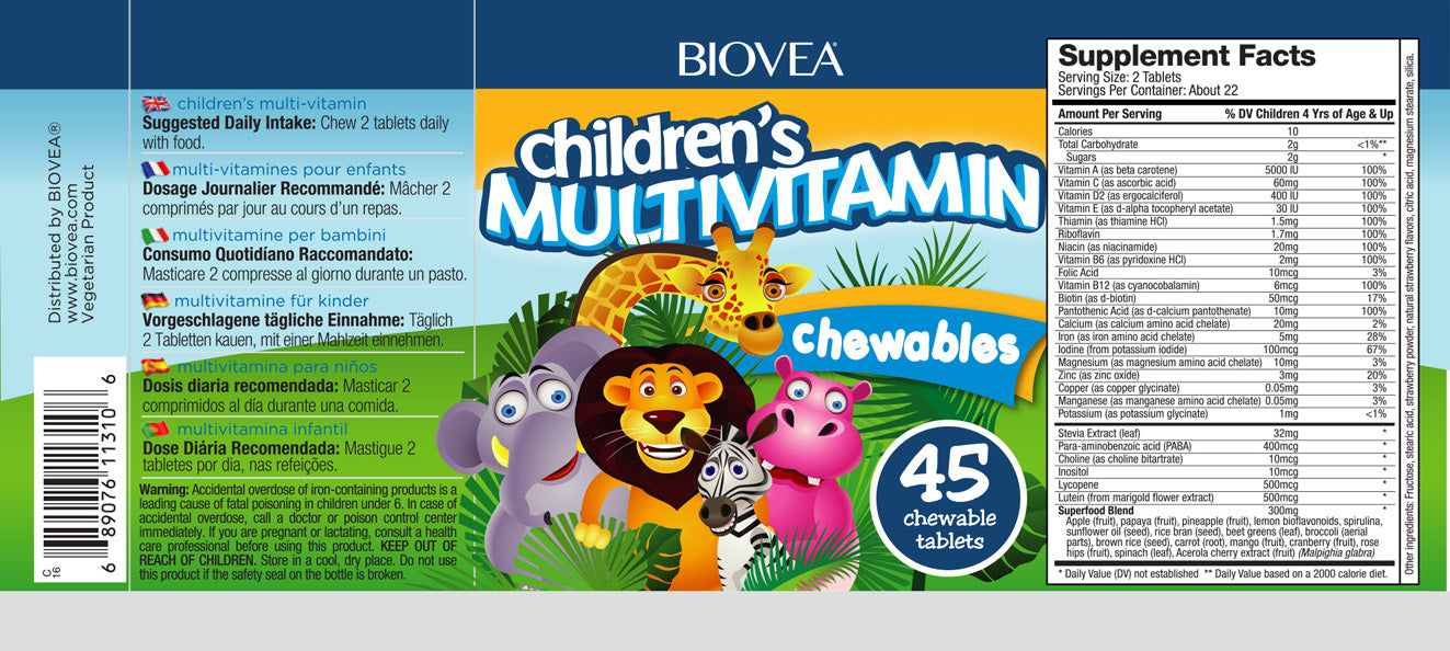 Children's multivitamin 45 chewable tablets