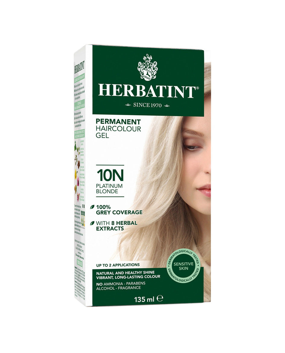 Herbatint permanent haircolor gel 10N Platinum Blonde 135ml