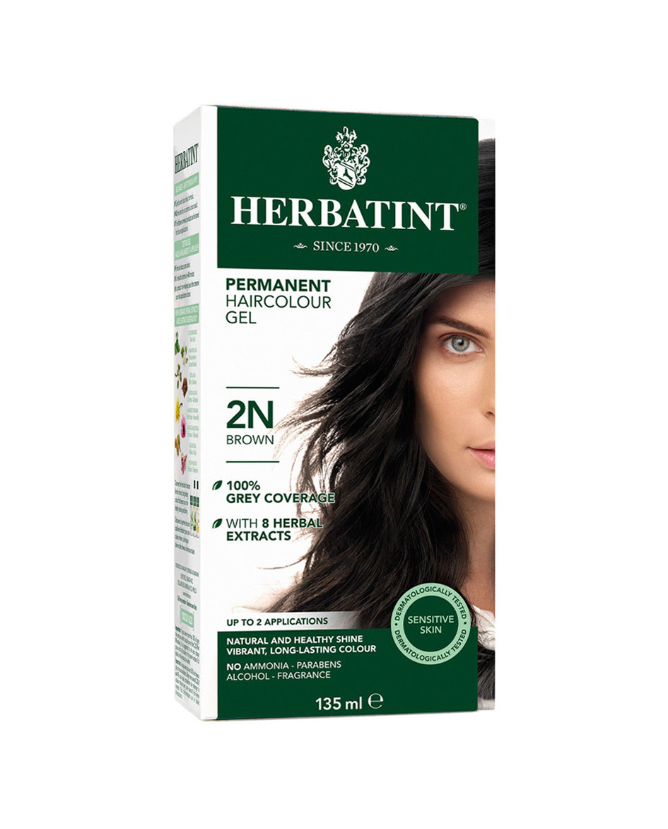 Herbatint permanent haircolor gel 2N Brown 135ml