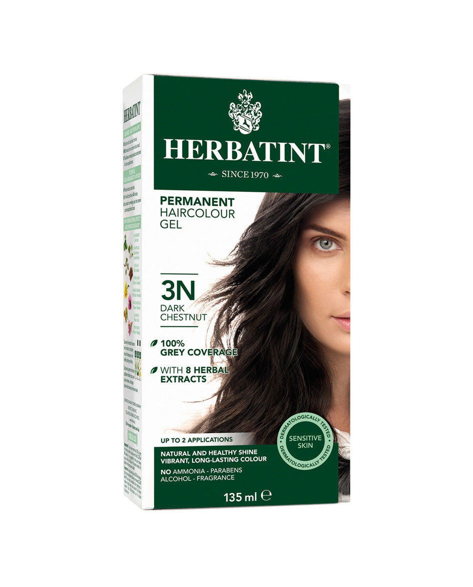 Herbatint permanent haircolor gel 3N Dark Chestnut 135ml