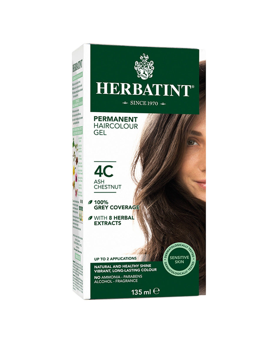 Herbatint permanent haircolor gel 4C Ash Chestnut 135ml