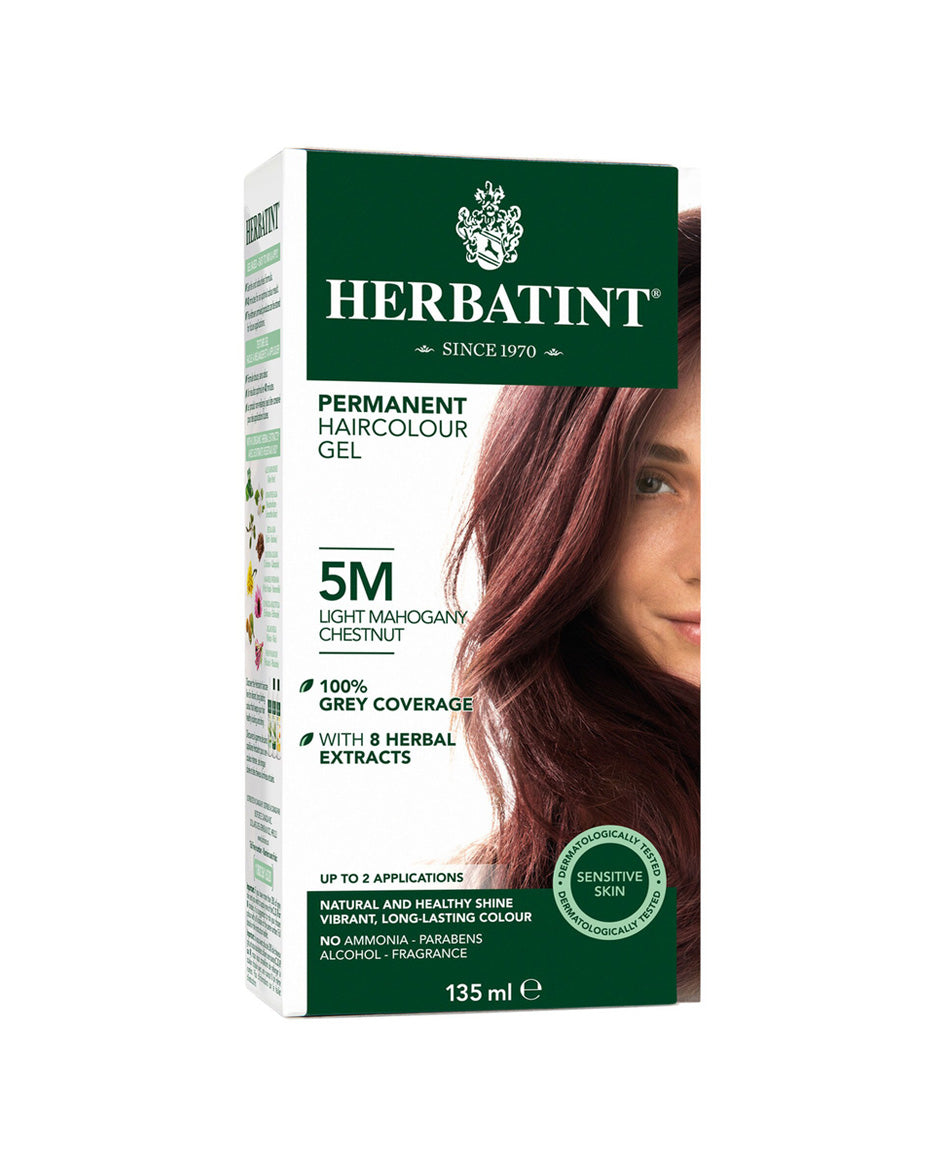 Herbatint permanent haircolor gel 5M Light Mahogany Chestnut 135ml