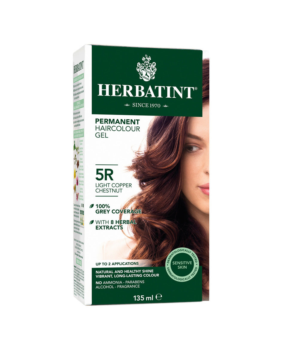Herbatint permanent haircolor gel 5R Light Copper Chestnut 135ml