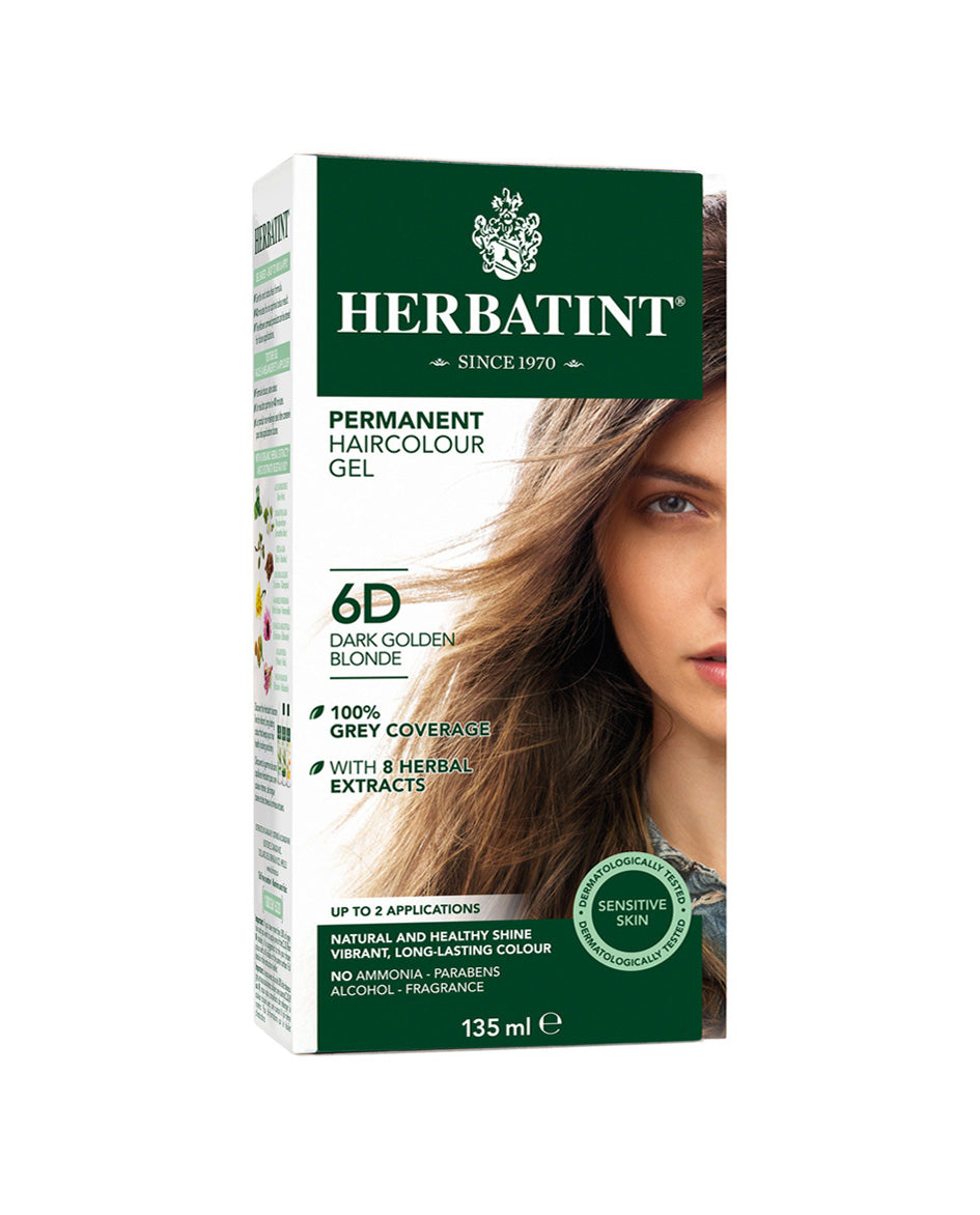 Herbatint permanent haircolor gel 6D Dark Golden Blonde 135ml