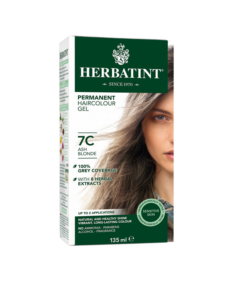 Herbatint permanent haircolor gel 7C Ash Blonde 135ml