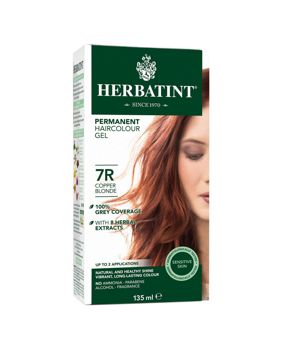 Herbatint permanent haircolor gel 7R Copper Blonde 135ml