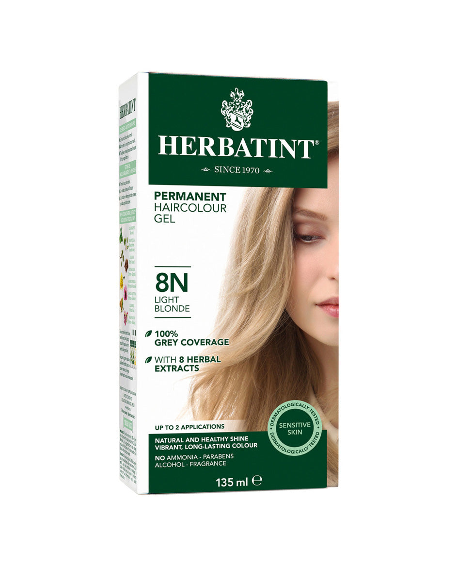 Herbatint permanent haircolor gel 8N Light Blonde 135ml