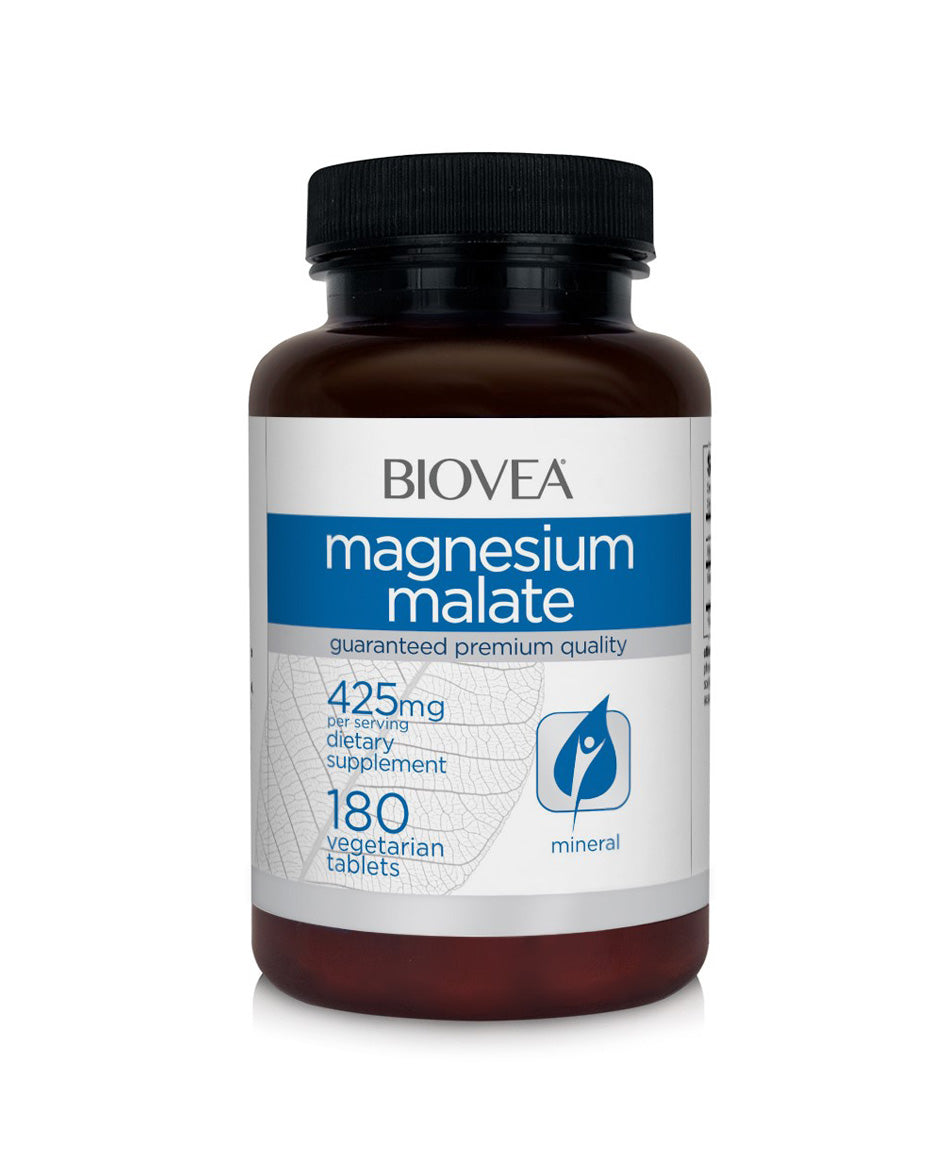 Magnesium malate 425mg 180 vegetarian tablets