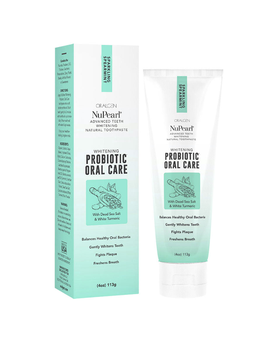 Oralgen NuPearl probiotic toothpaste spearmint 113g